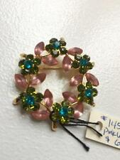 Brand new MARIE CHAVEZ pink wreath jeweled pin Retail $66