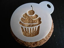 Laser cut small cupcake design cake, cookie, craft and face painting stencil