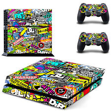 Colorful Design Cover Skin Sticker For PS4 PlayStation Console 2 Controller