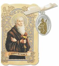 St Benedict Prayer Folder Patron of Exorcism Protection from Demons Saint Medal