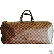 Auth LOUIS VUITTON Damier Ebene Greenwich GM Soft Luggage Travel Duffel MPRS