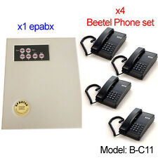 Small EPABX PABX Intercom system telephone 104 - With x4 (Beetel Phone Set)