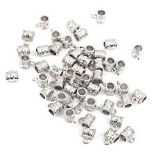 50pcs Tibetan Silver Charms Bail Connector Beads Pendant Necklace Making DIY