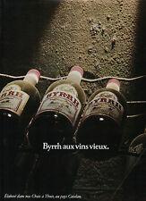 Publicité Advertising 1977  BYRRH aux vins vieux