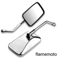 MOTORCYCLE CHROME BIG CUSTOM REARVIEW SIDE MIRRORS FOR CRUISER CHOPPER 10MM BOLT