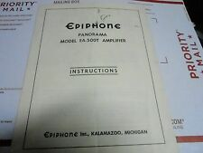 VINTAGE EPIPHONE owners instruction manual - MODEL EA-500T AMPLIFIER - PANORAMA