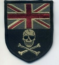 AFSOC COMBAT CONTROL OPERATOR νeΙ©®⚙��SHIELD PATCH: UK FLAG SKULL Subdued Black