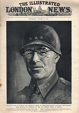 1944 London News August 19 - Gen. Omar Bradley; Falaise; German army is trapped