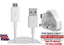 Wall Mains Plug Charger MICRO USB  CABLE FOR ALL GALAXY  S1 S2 S3 S4 HTC+NOKIA