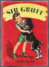 Vintage Childrens Fuzzy Wuzzy Book Sir Gruff The Woolly Dog 1947 Whitman 1st