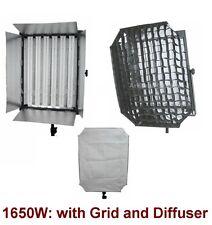 1650W Fluorescent Continuous Studio Video Light Panel Lite Lamp w Diffuser Grid