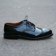 NEW Alden for Epaulet Alt Wien shell cordovan blucher, Black, Barrie Last, 9.5D
