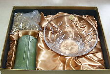 ITALIAN LEAD CRYSTAL FROM TUSCANY, BOWL WITH CANDLE GIFT SET