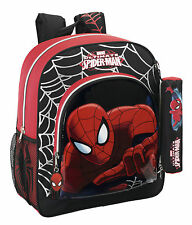 Licensed Spider-Man Backpack with Free Small Pencil Case NEW Rucksack Boy Bag