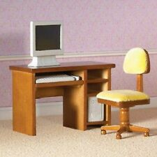 Dolls House Miniature 1/12th Scale Emporium Computer Desk and Chair 4440