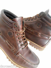 TIMBERLAND OAKWELL BROWN LEATHER BOOTS SIZE 10.5 MENS TIMBERLAND CHECKED LINING