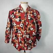 Vintage Disney Mickey Mouse Poppins Grace Cotton Casual Shirt 80's