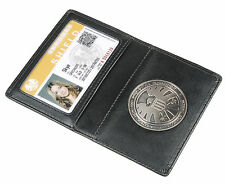 The Avengers Agents of S.H.I.E.L.D.Shield Badge in Leather Wallet Holder Skype