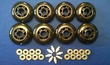 HiLo Rollerblade Inline Fitness Skate Wheels 80mm 76mm 83A + Bearings + Spacers