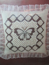 Stencil CandleWicking Kit Butterfly Lace Needlework Handwork Sewing Pillow New