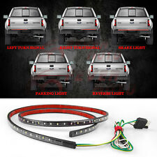 60''Car Red/White Tailgate LED Light Bar Reverse Brake Turn Signal Fit Chevy FM