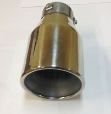 "UNIVERSAL FIT ROUND 4-1/2"" STAINLESS EXHAUST MUFFLER TIP PIPE RESONATED MT-551"