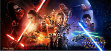 Star Wars Episode 7 VII The Force Awakens movie BANNER vinyl 40x18 poster ALL