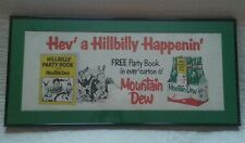 1960's Mountain Dew paper litho sign ( pepsi co )