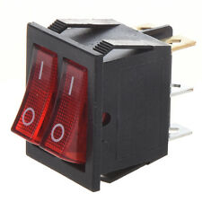 Red IllumInated 6Pin Dual SPST ON/OFF Boat Rocker Switch 15A/250V 20A/125V AD