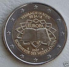 manueduc   HOLANDA  2007  2 Euros  Conmemorativa  TRATADO DE ROMA  NUEVA