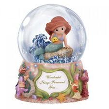 Precious Moments Disney Ariel Lil Mermaid Flounder Music Musical Box Water Globe