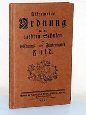 FULDA-ordine generali per le scuole rilucenti fac simili (1781)