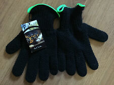 PAUL SMITH BLACK WOOL GLOVES WITH CASHMERE LINING & FLUORESCENT TRIM SIZE M BNWT
