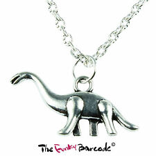 TFB - BRONTOSAURUS DINOSAUR NECKLACE RETRO KITSCH QUIRKY FUN VINTAGE FUNKY GIFT