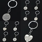 Family Gifts Words Love Silver Plated Keyring Heart Round Fashion Love Bag Hot