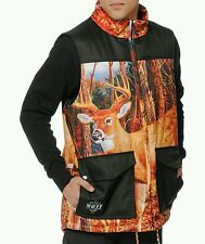 NEFF Deer Bright Chalet Quilted Inside Heavy Duty 3-Pocket Vest L NWT snowboard