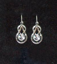 Ohrringe mit Swarovski Kristall Hänger Ohrhänger Fb. Silber nickelfrei    SR43