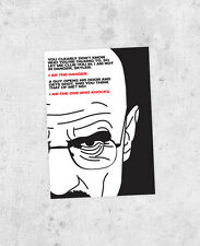 "Breaking Bad Sticker - Walter White ""I am the danger, I am the one who knocks"""