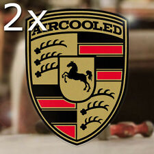 2x pieces Aircooled sticker decal german volkswagen vw bug bus beetle gold 4.75""