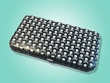 USED PUNK ROCK GOTH SKULL & CROSS BONES CLUTCH WALLET