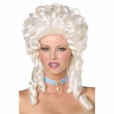 Baroque White Wig w Ringlet Curls Womens Fancy Dress Court French Cinderella