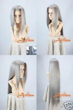 Final Fantasy VII Sephiroth cosplay wig Adult Unisex Gray HAIR Synthetic wigs