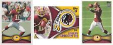 3x Lot 2012 Topps Robert Griffin III 340A + 340C FS + Rookie Patch Redskins