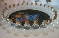 10 Piece Glass Jar Lot. 4ml Bitty Bottles. Small Glass Bottles With Cork. Vials.