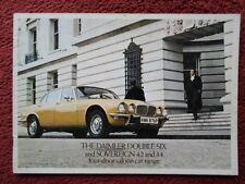 DAIMLER Double Six & Sovereign 4.2 3.4 4-Door Saloons orig 1975 UK Mkt brochure