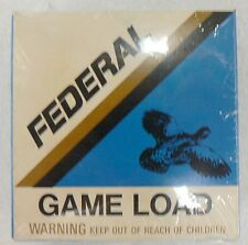 FEDERAL 12 GA.GAME LOAD SHOTGUN SHELL EMPTY BOX