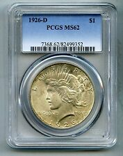 1926 D Peace Silver Dollar -- PCGS MS 62 -- Mint State!!  Free Shipping in USA!!