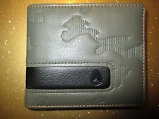 NEW NIXON WALLET BIFOLD ID VEGAN PU Faux Leather Men's Boy's Army Green