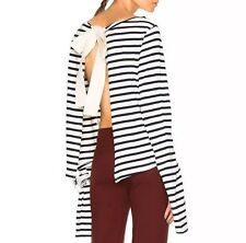 JACQUEMUS La Marinière Open-back Striped Top Sweater size 36 BRAND NEW with TAGS
