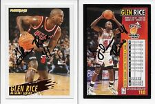 Glen Rice Heat signed front & back 1994-95 Fleer basketball card 118 auto 1/1